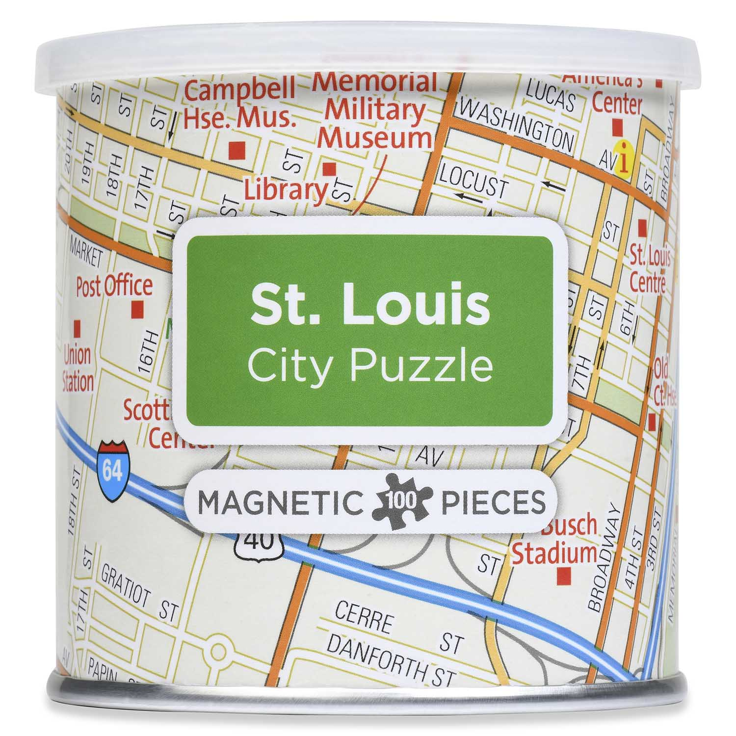 City Magnetic Puzzle St. Louis Cities Jigsaw Puzzle