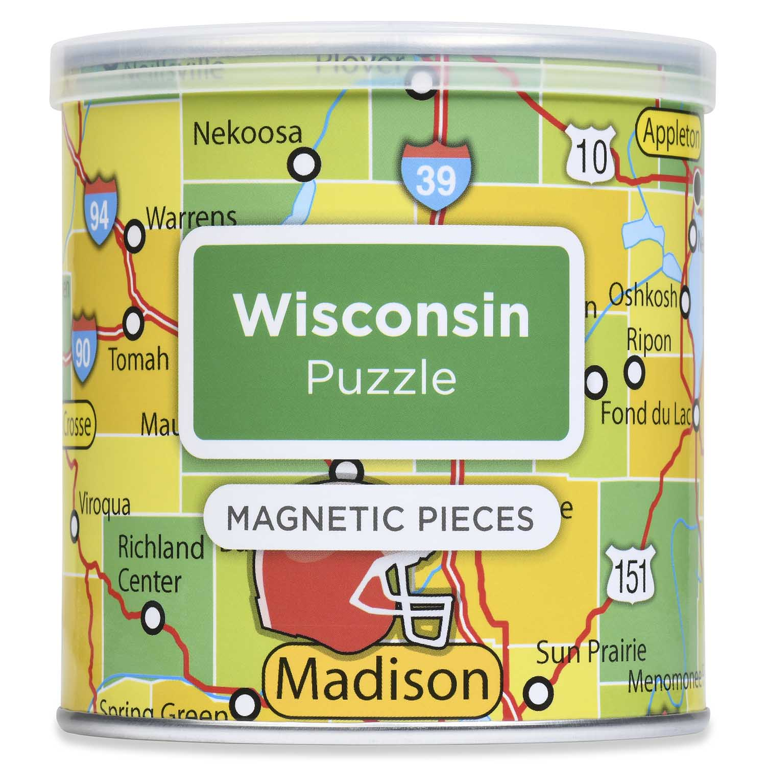 City Magnetic Puzzle Wisconsin Cities Jigsaw Puzzle