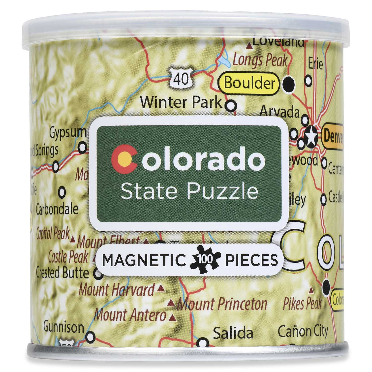 City Magnetic Puzzle Colorado Cities Jigsaw Puzzle