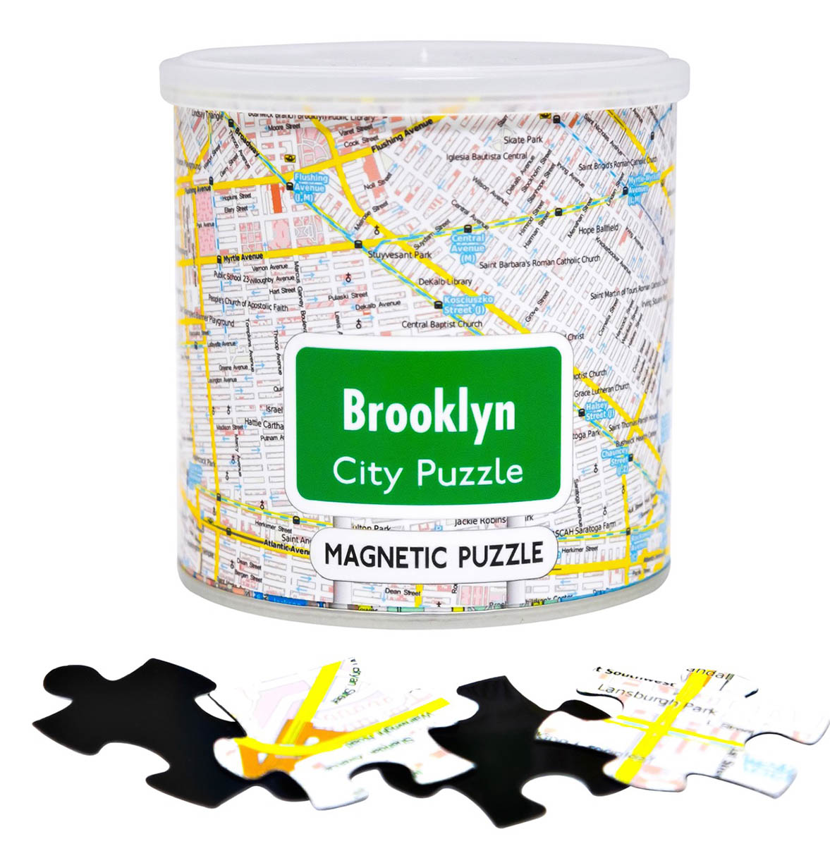City Magnetic Puzzle Brooklyn Cities Jigsaw Puzzle