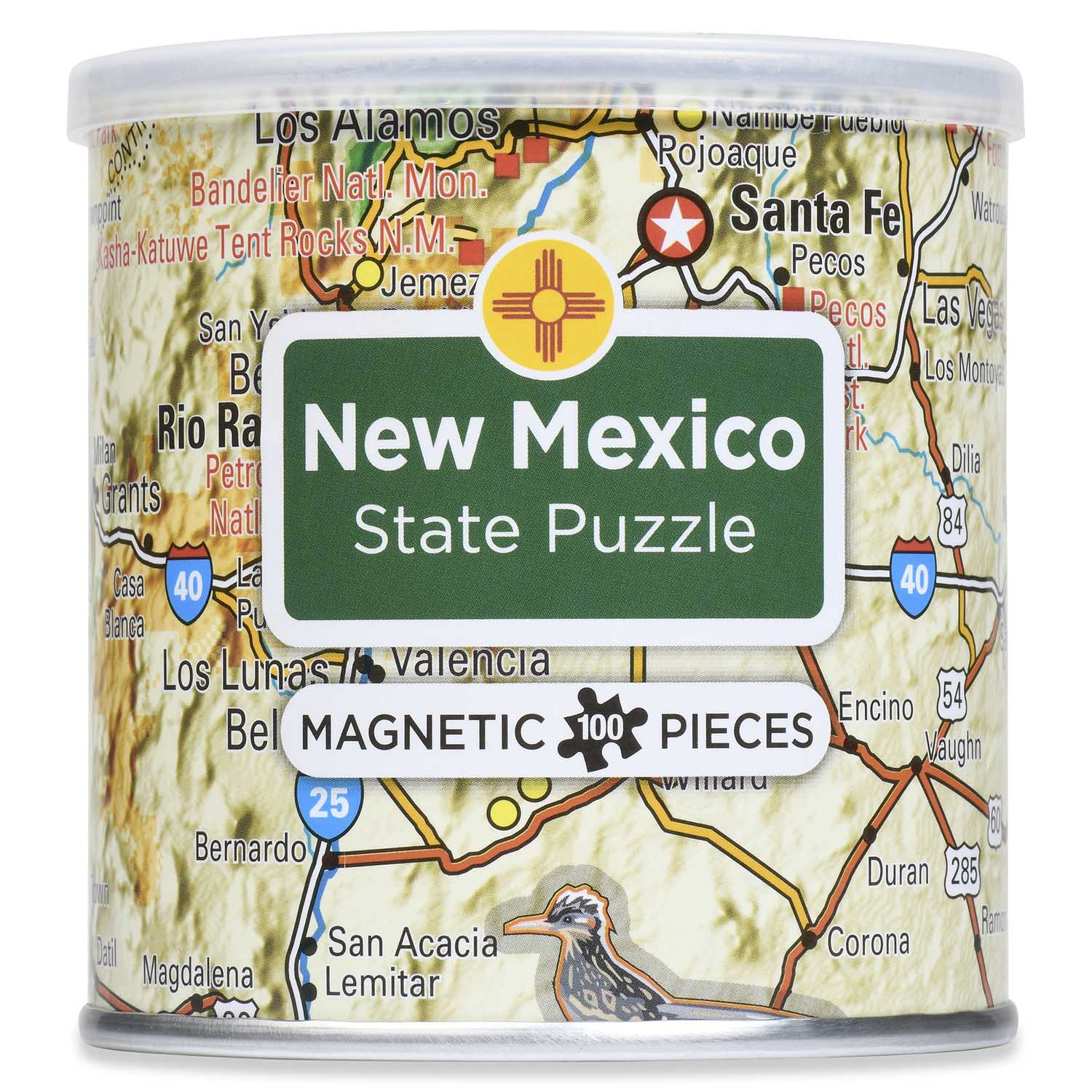 City Magnetic Puzzle New Mexico Cities Jigsaw Puzzle