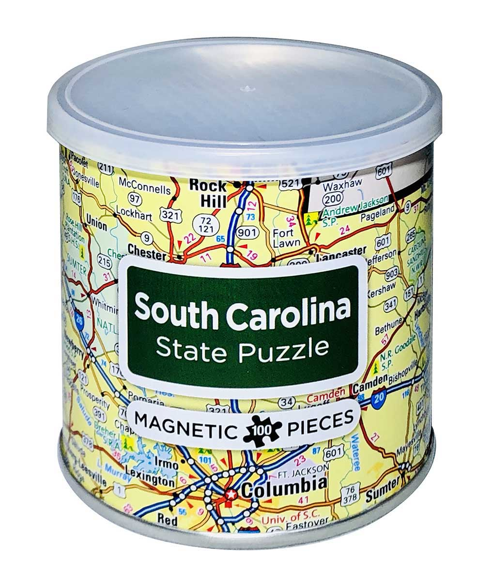 City Magnetic Puzzle South Carolina Cities Jigsaw Puzzle