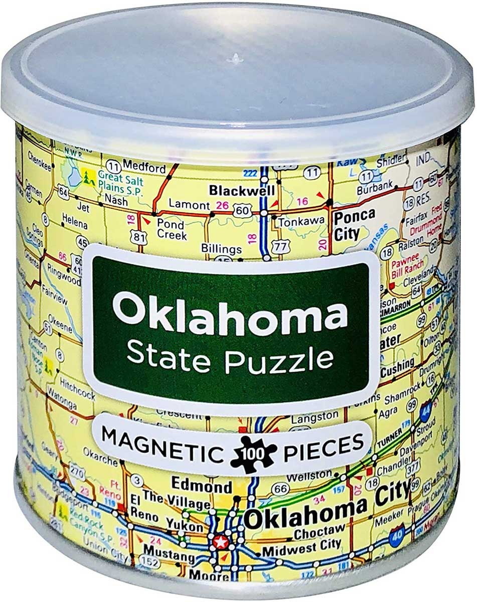 City Magnetic Puzzle Oklahoma Cities Jigsaw Puzzle