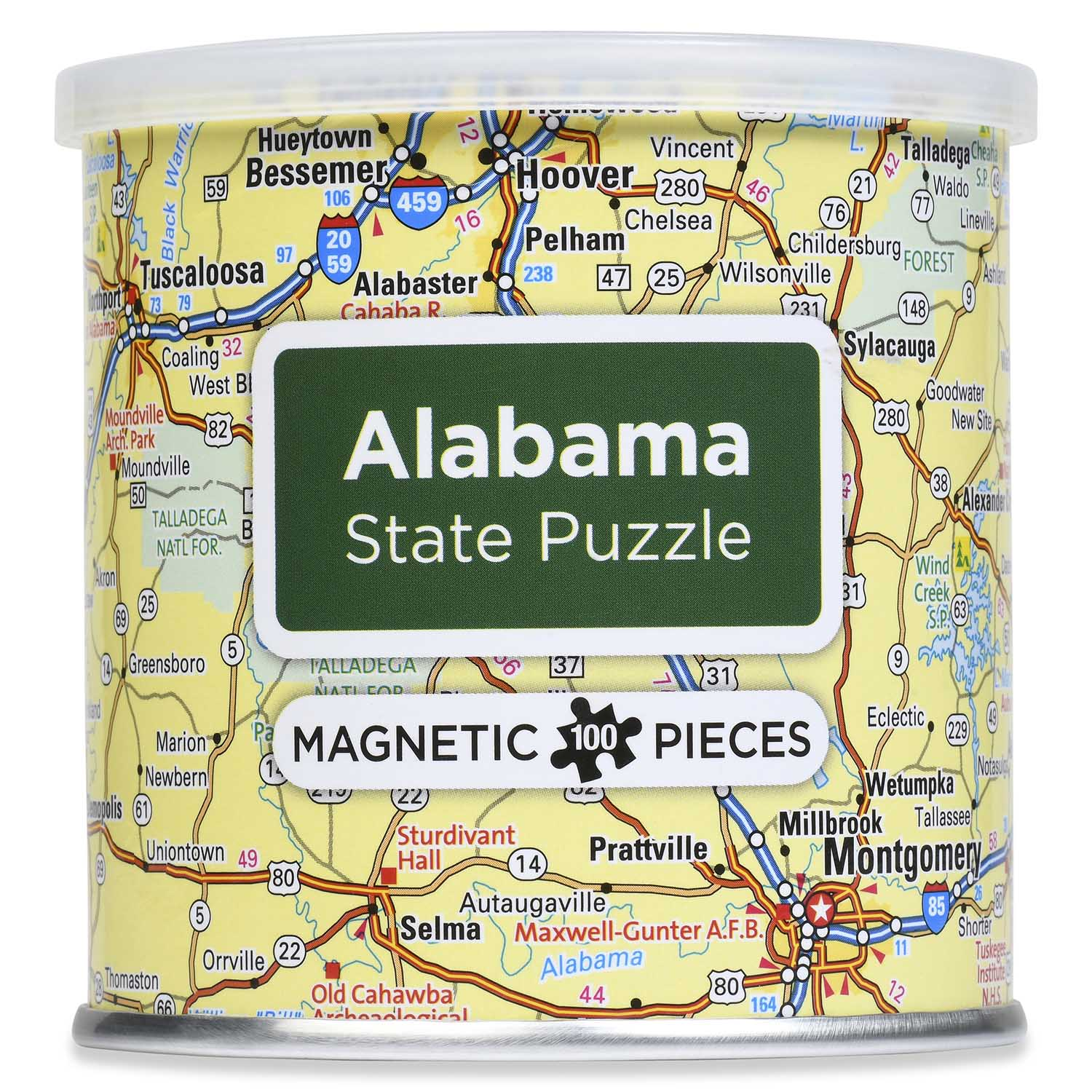 City Magnetic Puzzle Alabama Cities Jigsaw Puzzle