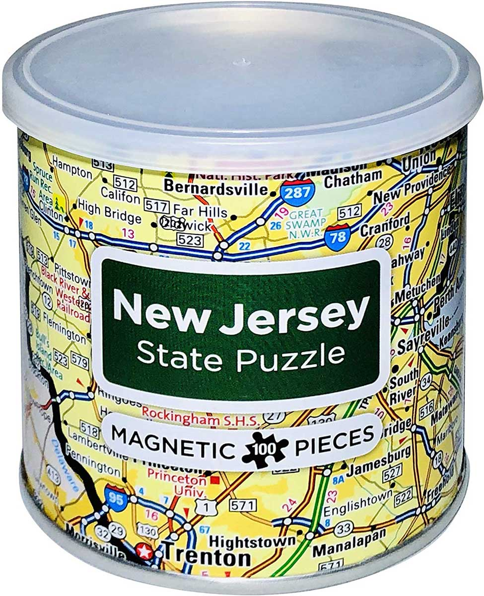 City Magnetic Puzzle New Jersey Cities Jigsaw Puzzle