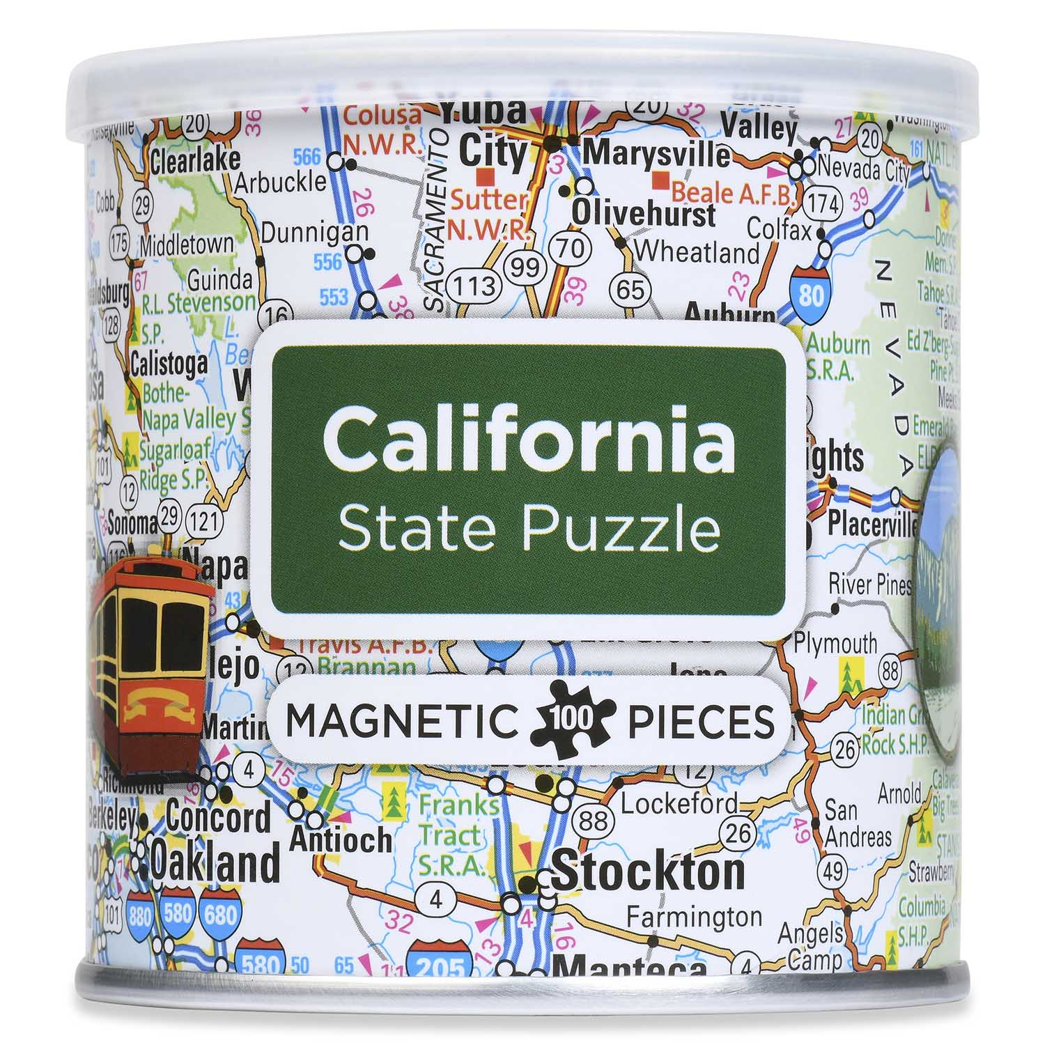 City Magnetic Puzzle California Cities Jigsaw Puzzle