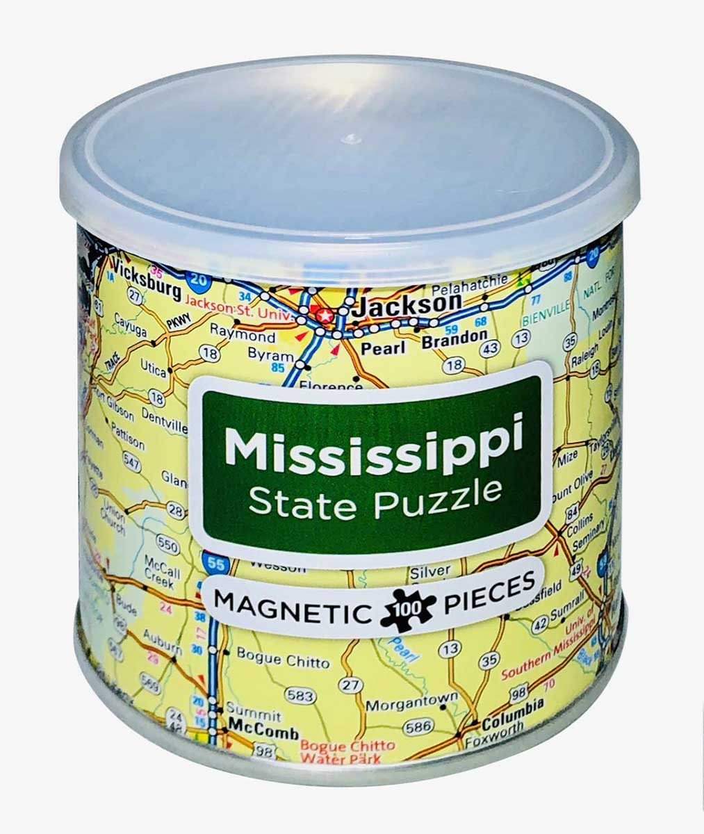 City Magnetic Puzzle Mississippi Cities Jigsaw Puzzle
