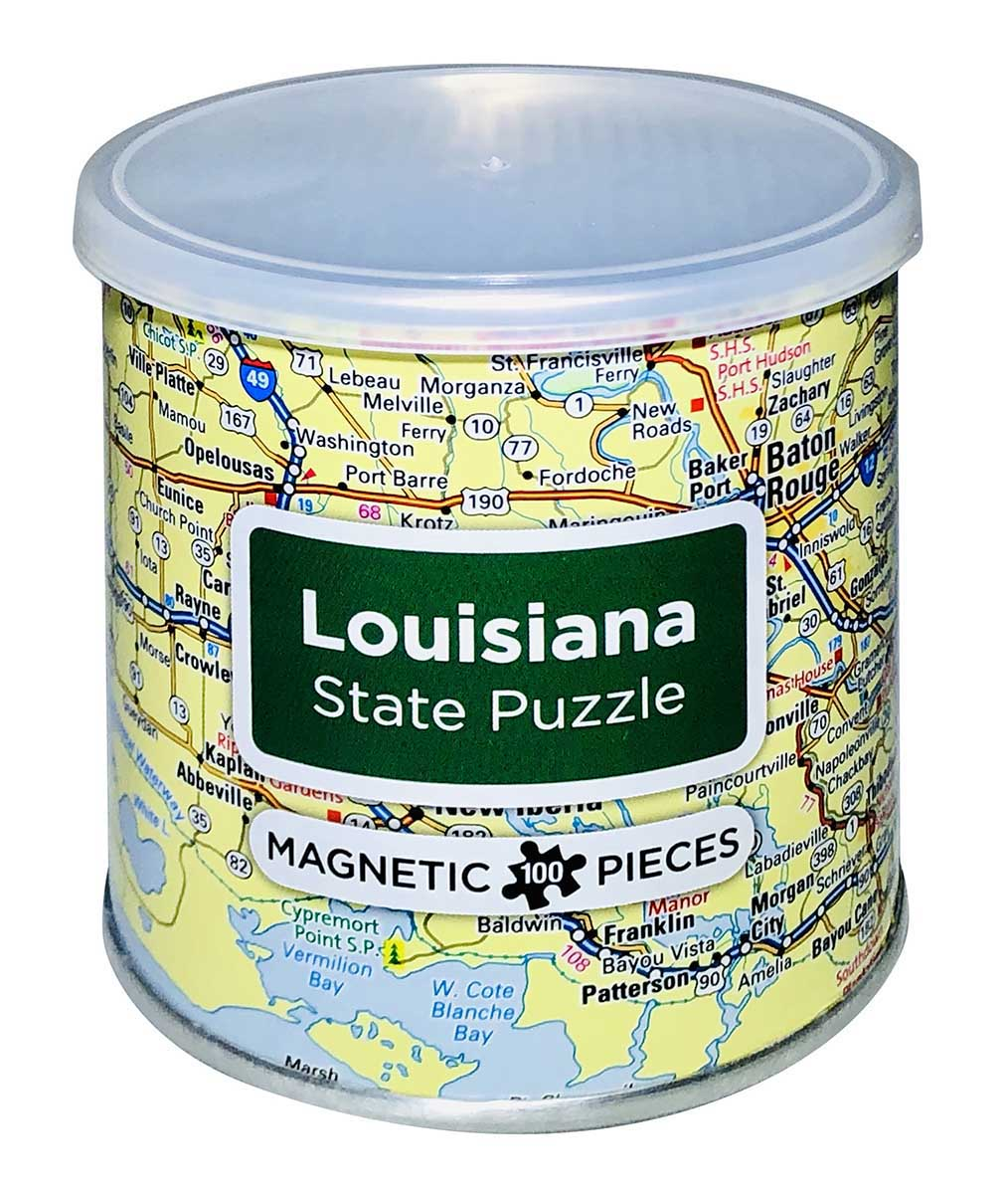 City Magnetic Puzzle Louisiana - Scratch and Dent Cities Jigsaw Puzzle
