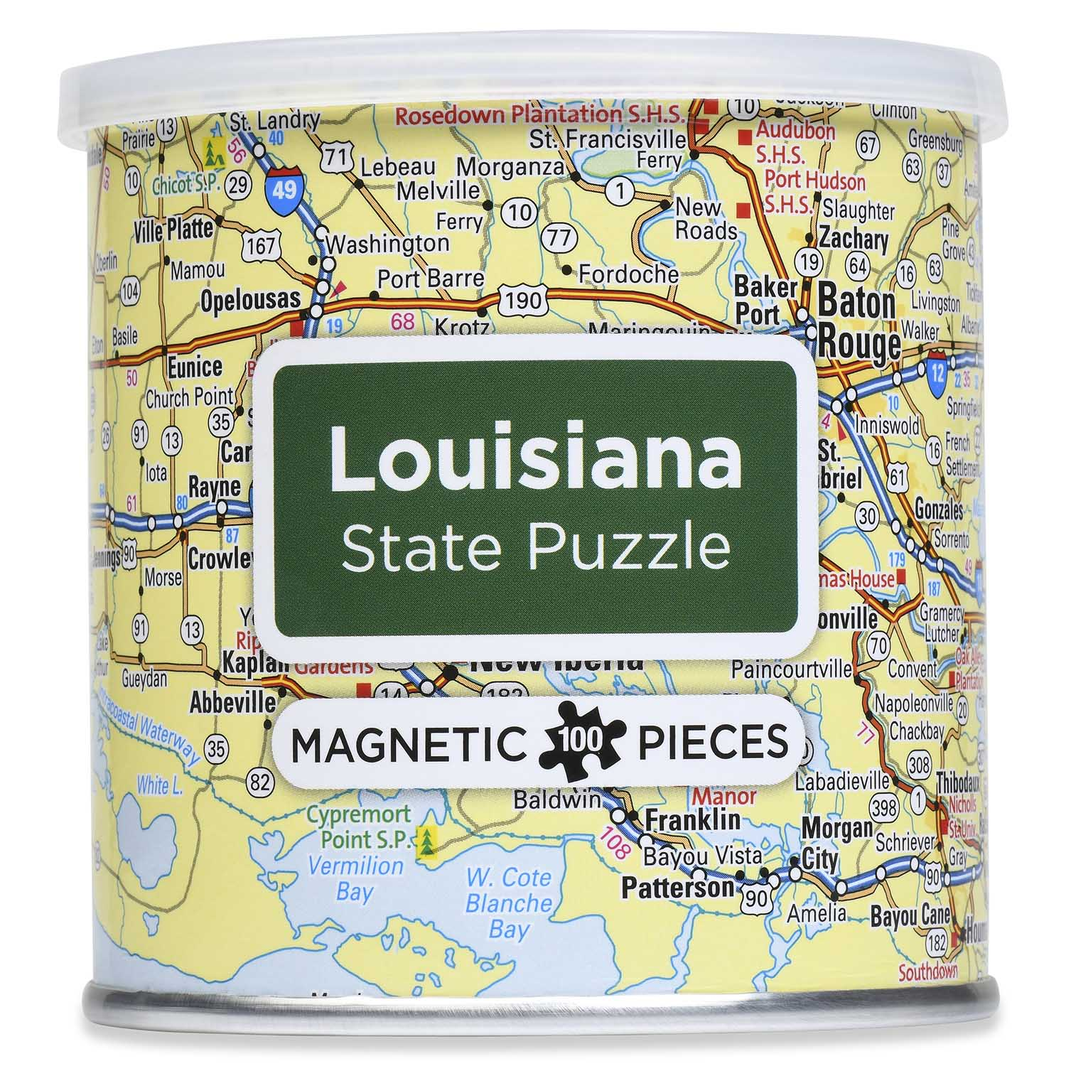 City Magnetic Puzzle Louisiana Cities Jigsaw Puzzle
