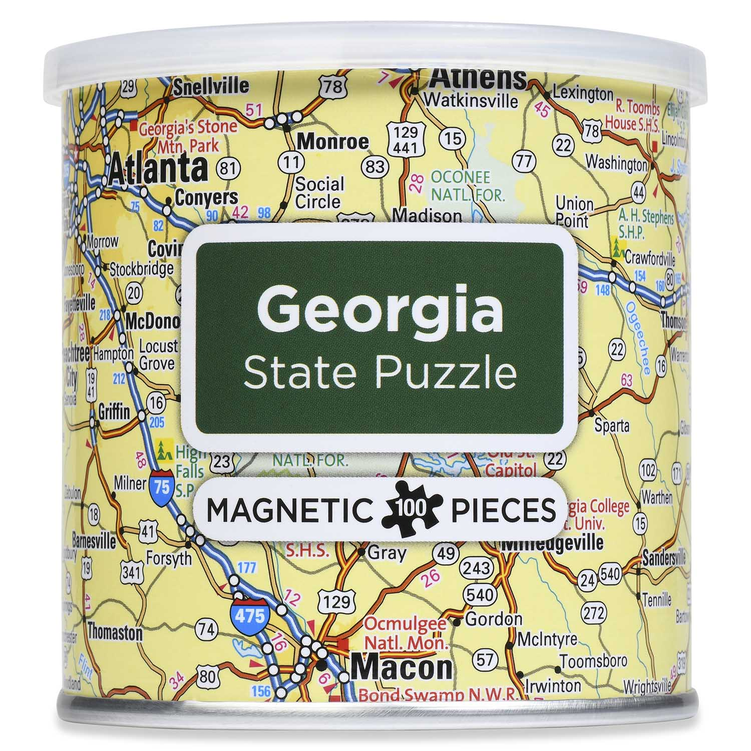 City Magnetic Puzzle Georgia Cities Jigsaw Puzzle