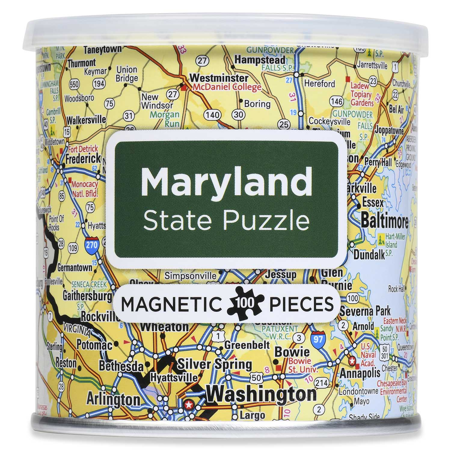 City Magnetic Puzzle Maryland Cities Jigsaw Puzzle