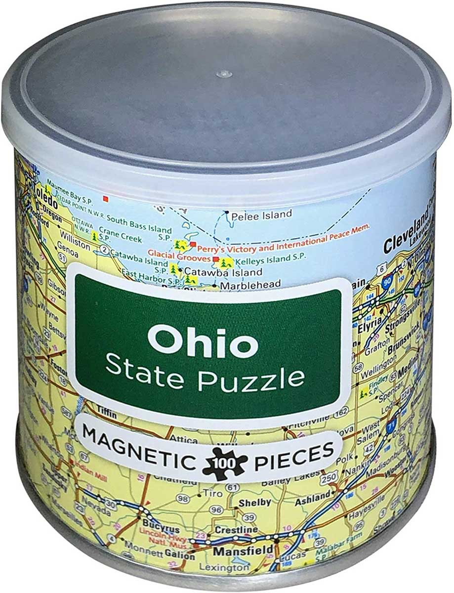 Magnetic Puzzle Ohio Travel Jigsaw Puzzle
