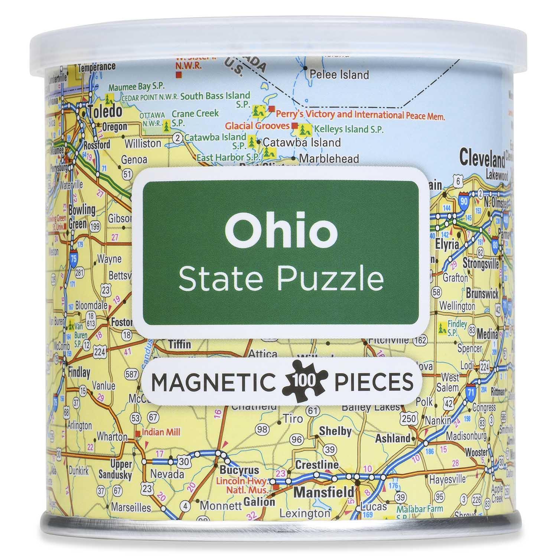 Magnetic Puzzle Ohio Travel Jigsaw Puzzle