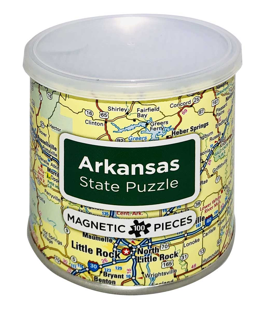City Magnetic Puzzle Arkansas Cities Jigsaw Puzzle