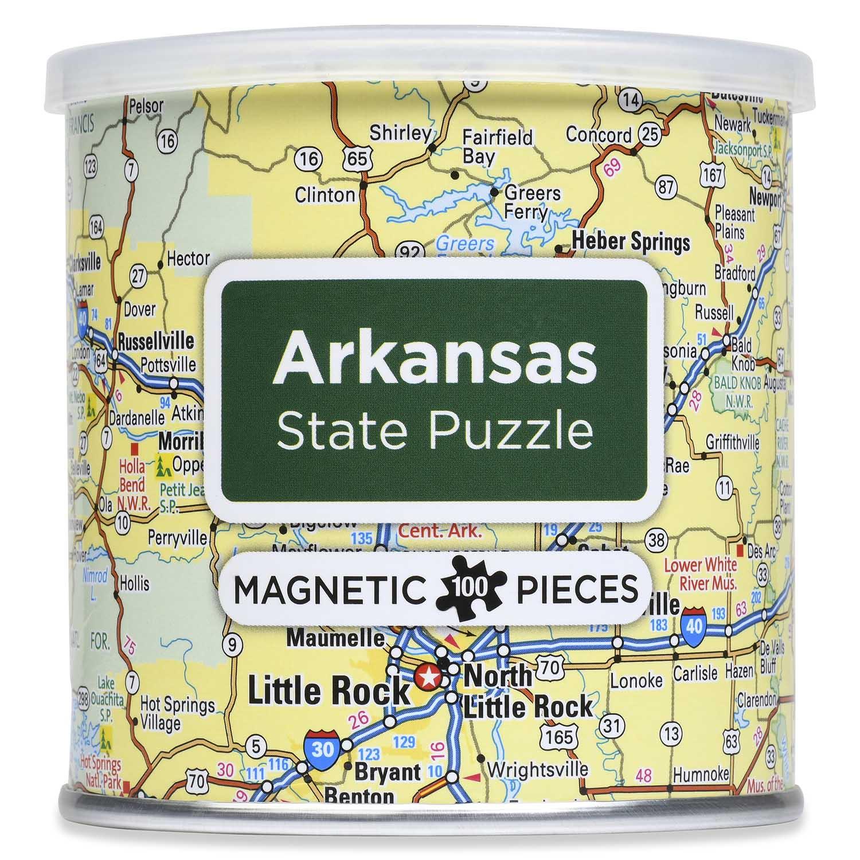 City Magnetic Puzzle Arkansas Cities Jigsaw Puzzle