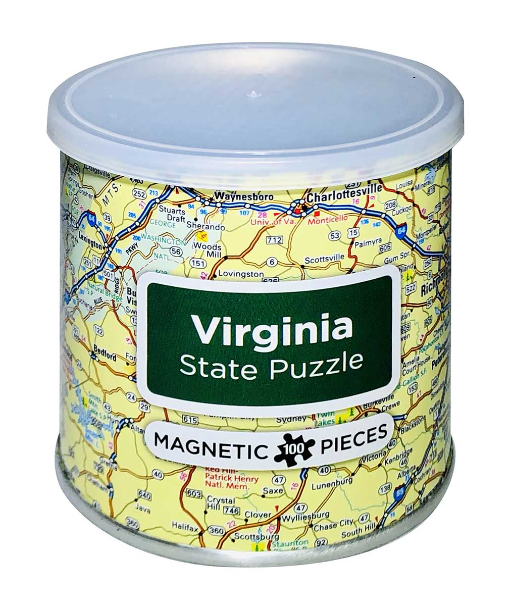 City Magnetic Puzzle Virginia Cities Jigsaw Puzzle