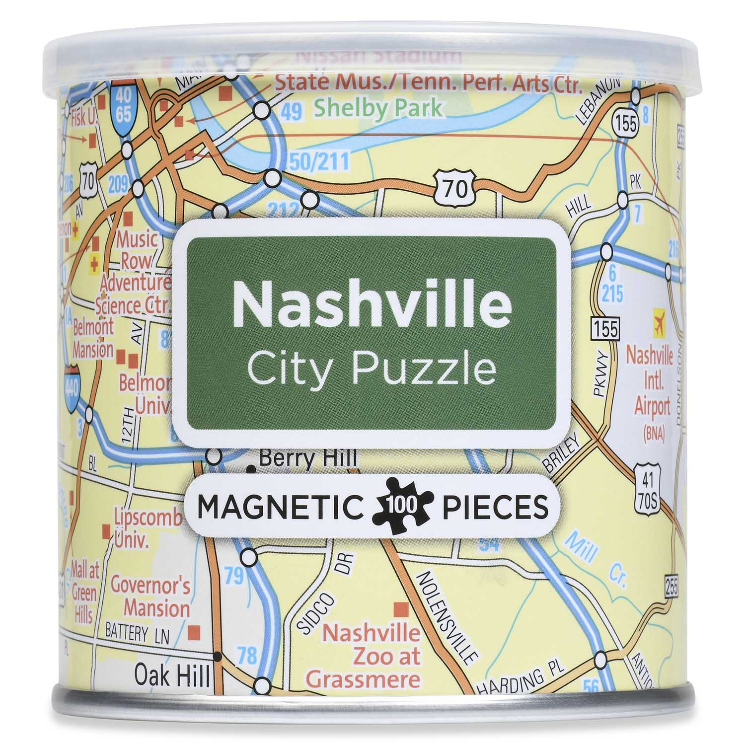 City Magnetic Puzzle Nashville Cities Jigsaw Puzzle