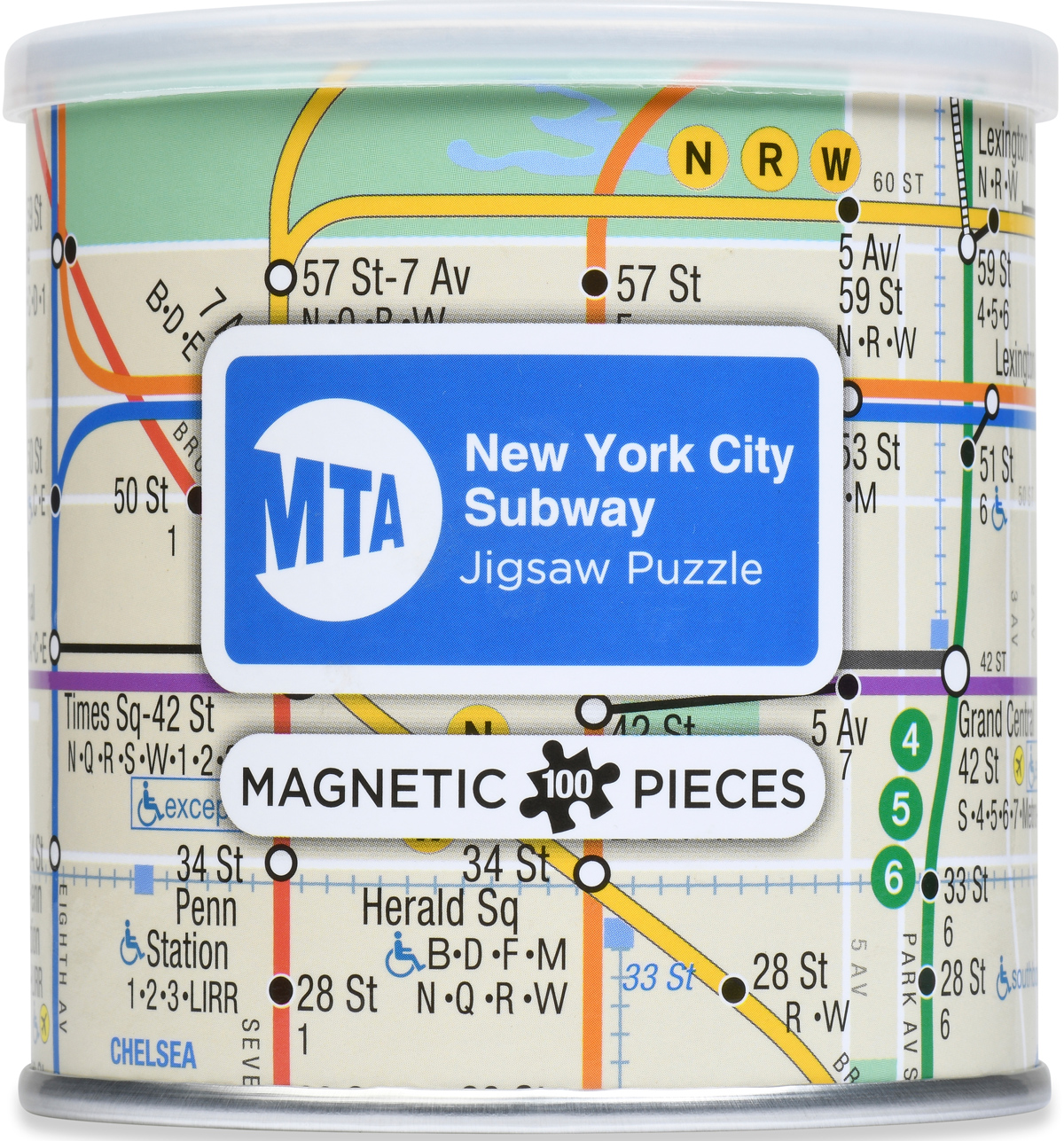 Magnetic Puzzle - New York City Subway Maps / Geography Jigsaw Puzzle