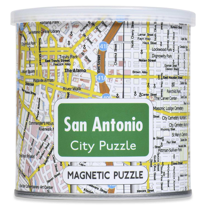 City Magnetic Puzzle San Antonio Cities Jigsaw Puzzle