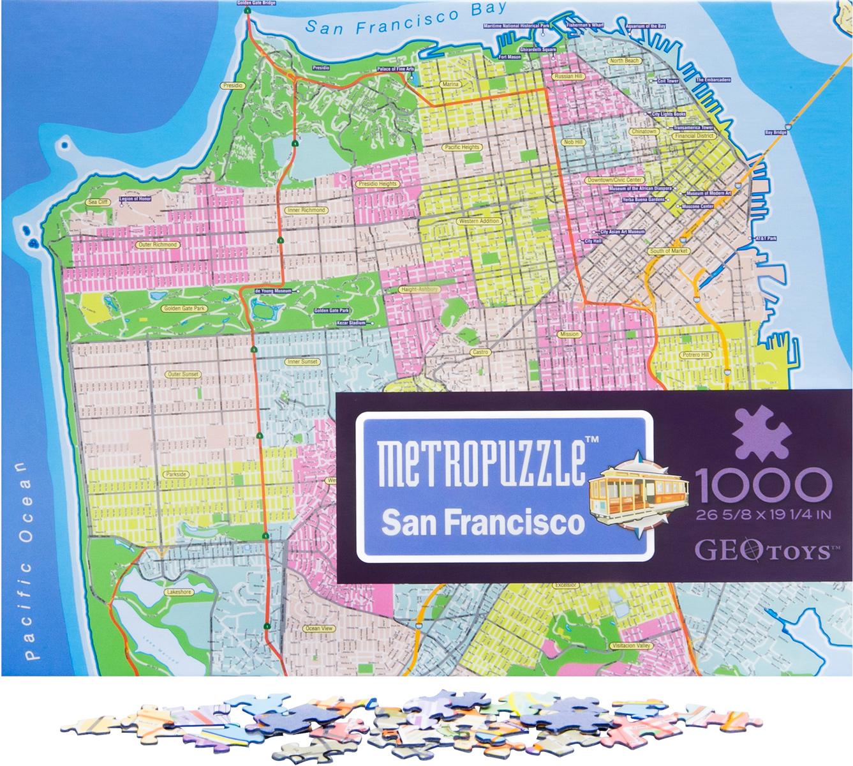 San Francisco MetroPuzzle™ Travel Jigsaw Puzzle