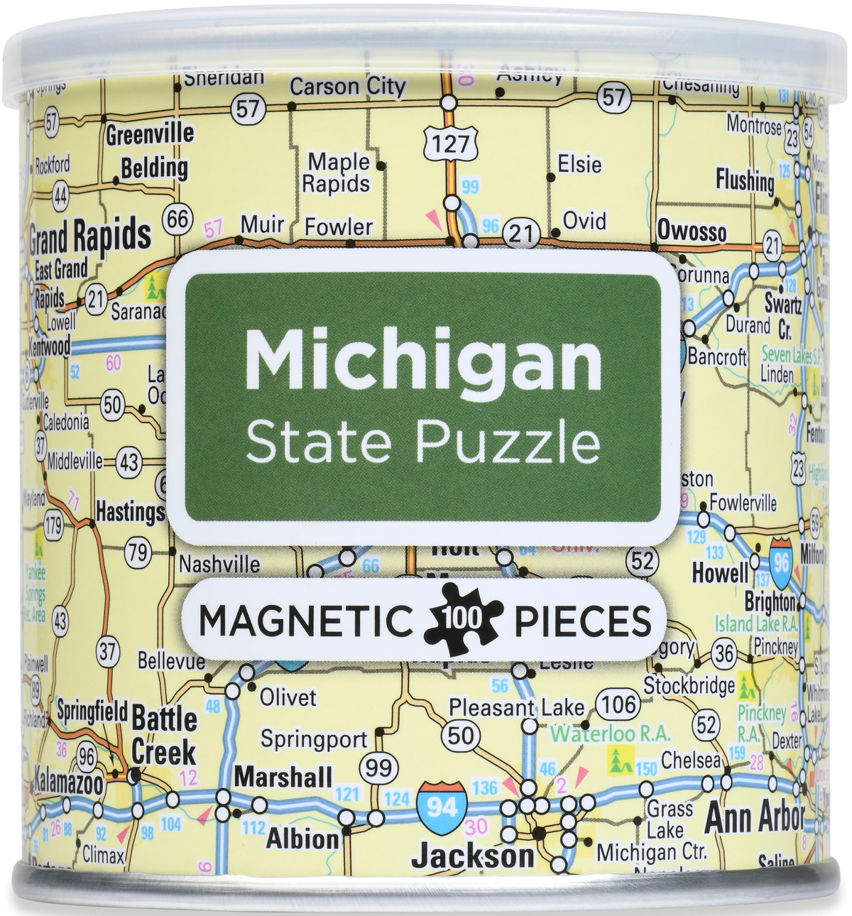 Magnetic Puzzle - Michigan Maps / Geography Jigsaw Puzzle