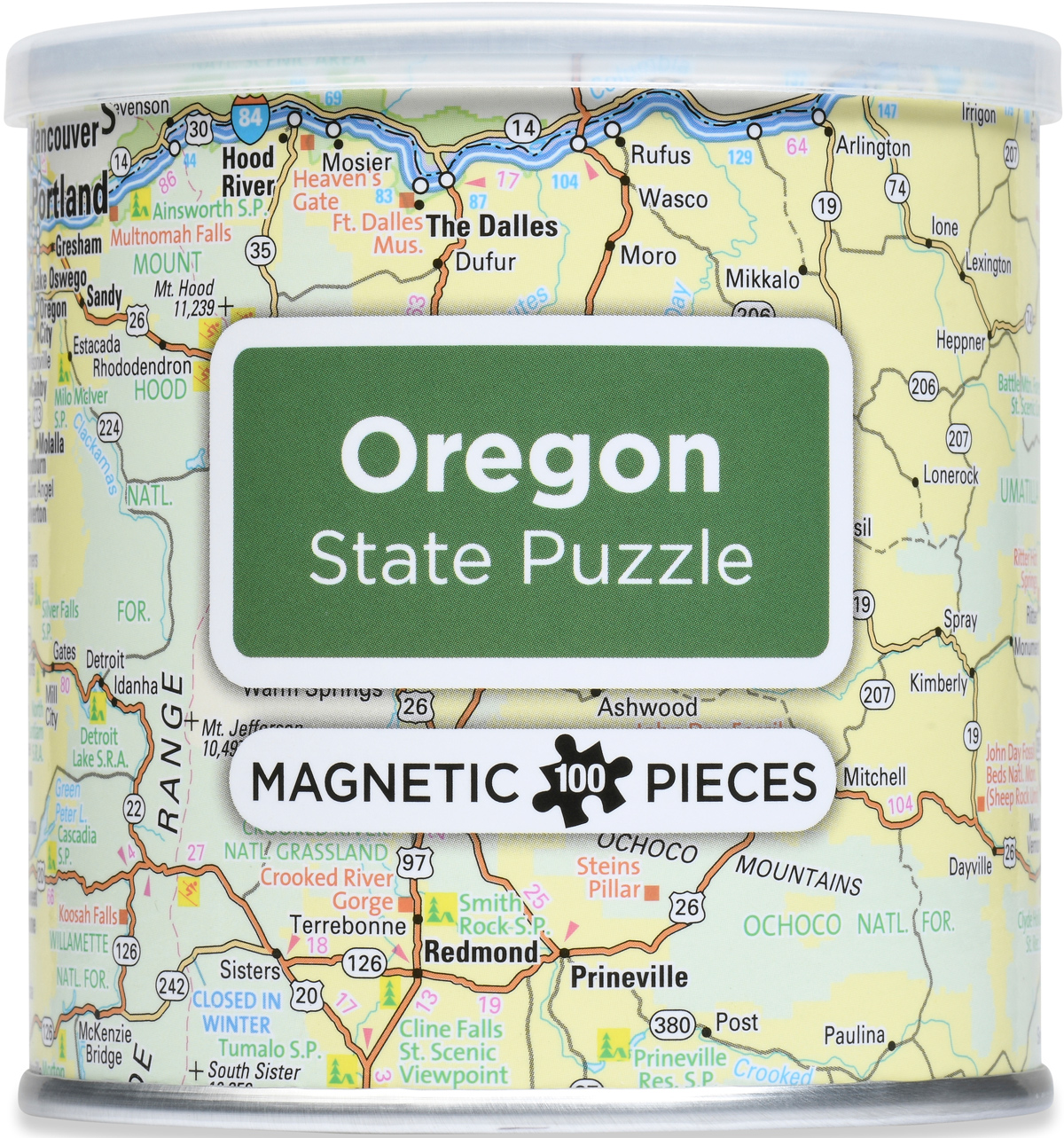Magnetic Puzzle - Oregon Maps / Geography Jigsaw Puzzle