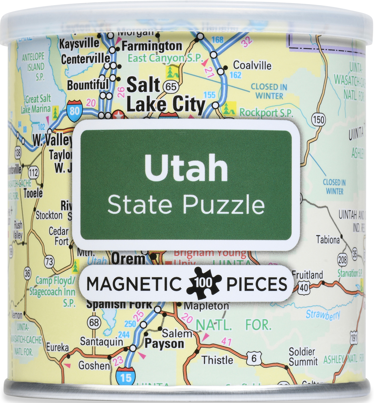 Magnetic Puzzle - Utah Maps / Geography Jigsaw Puzzle