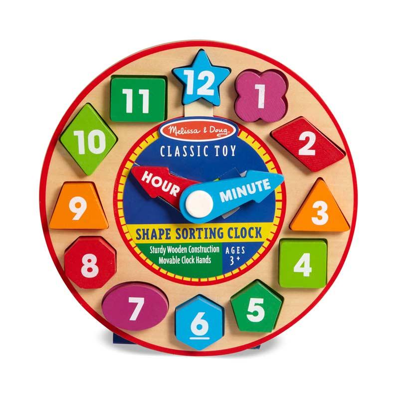 Shape Sorting Clock Educational