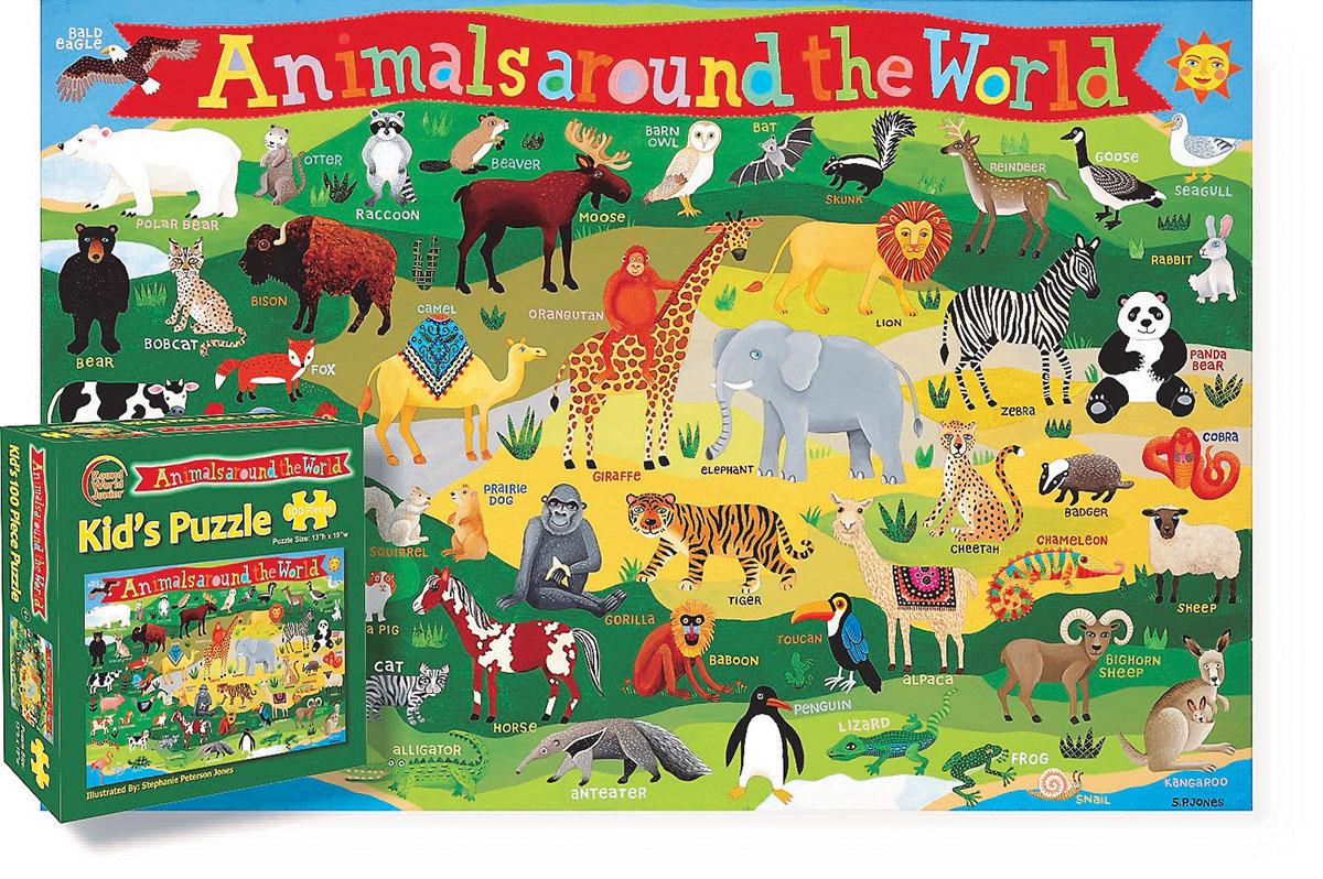 Kid's Animals Around the World Animals Children's Puzzles