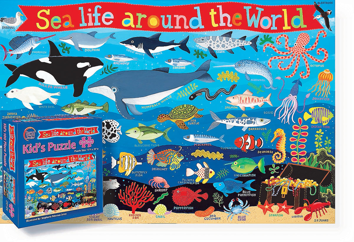 Kid's Sea Life Around the World Under The Sea Children's Puzzles