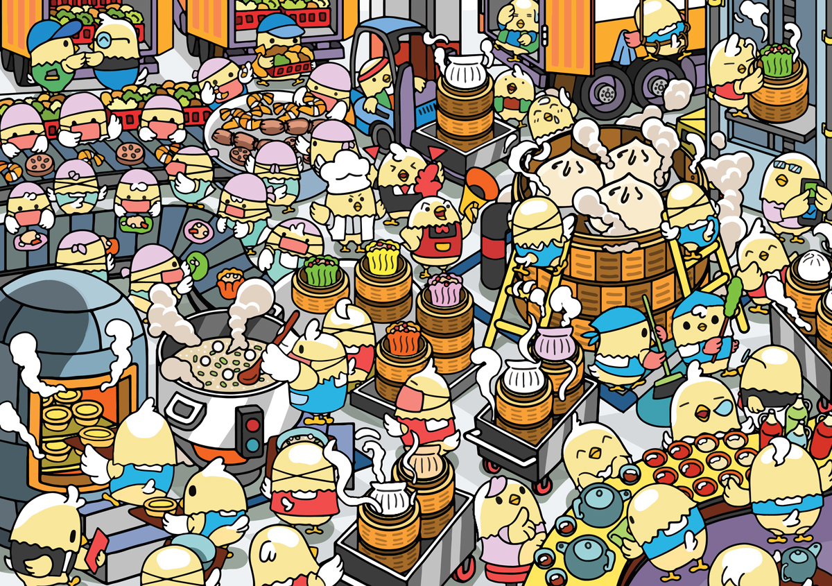 Dimsum Factory Food and Drink Jigsaw Puzzle