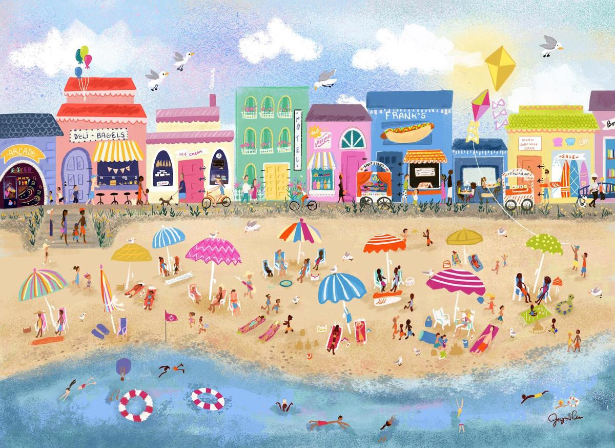 Down the Shore Beach Jigsaw Puzzle
