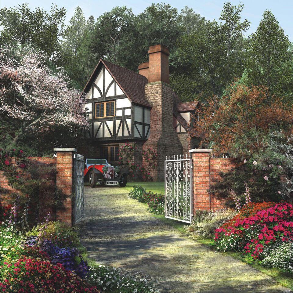 Alder Tree House Garden Jigsaw Puzzle
