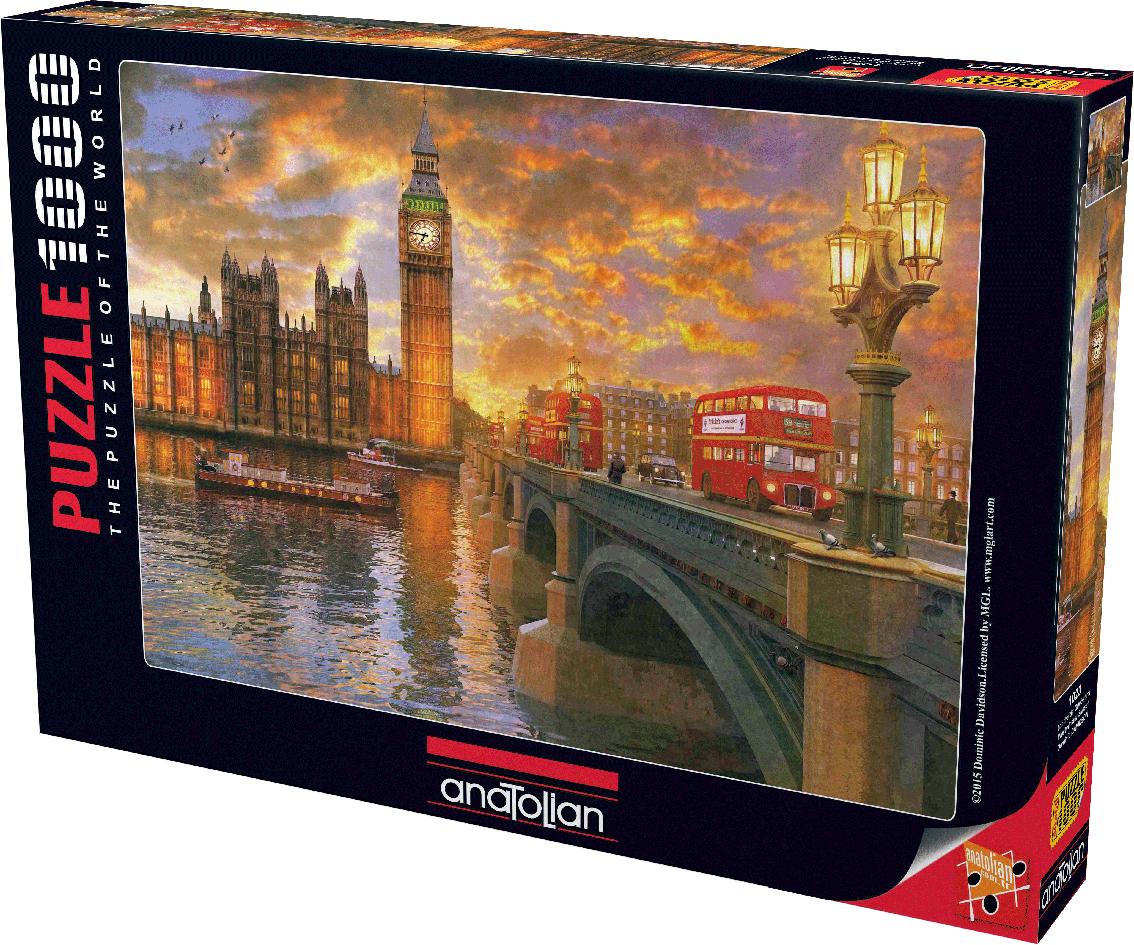 Westminster Sunset Landmarks / Monuments Jigsaw Puzzle