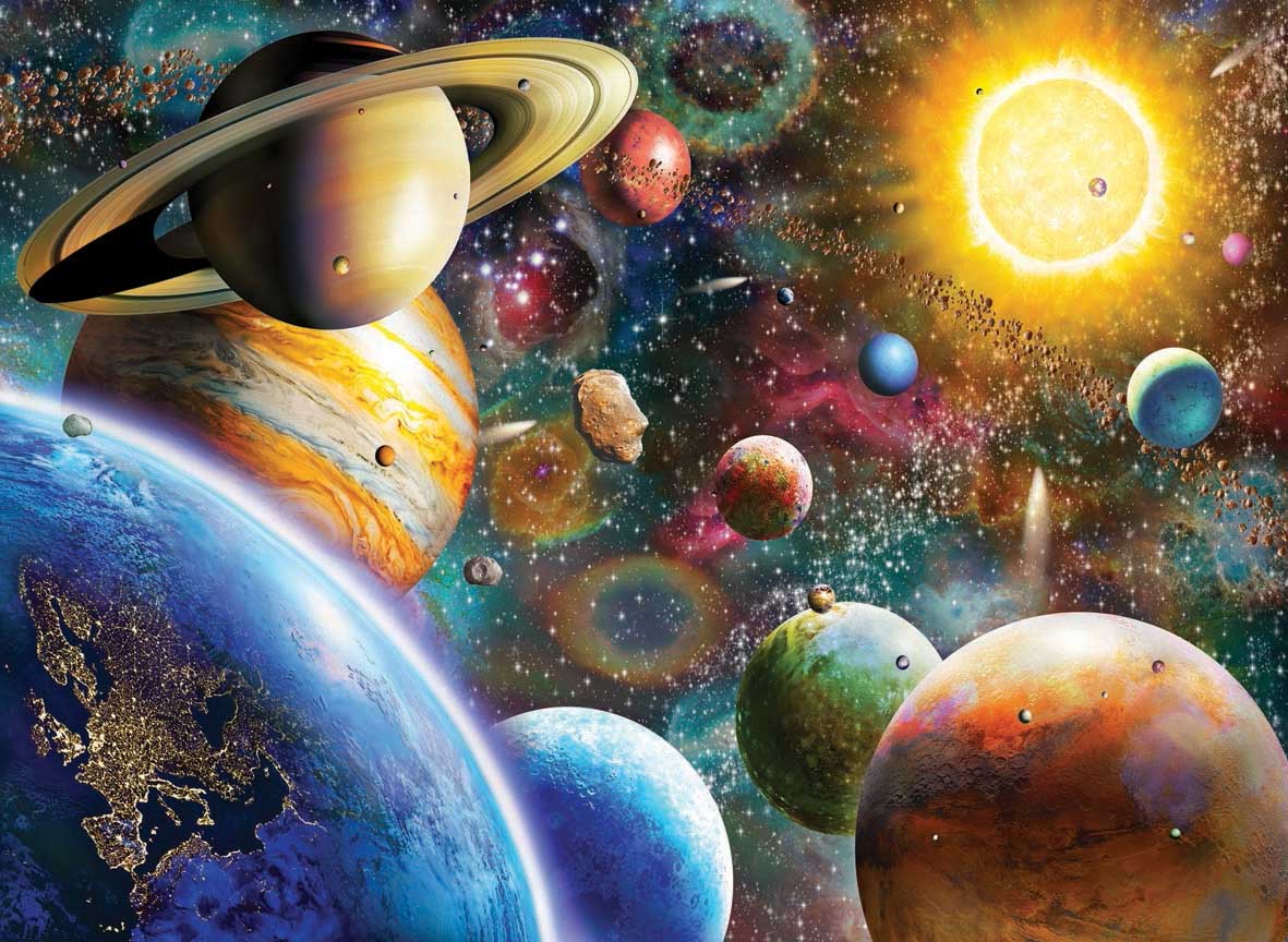 Planets in Space Space Jigsaw Puzzle