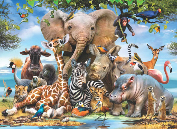 Africa Smile Animals Jigsaw Puzzle