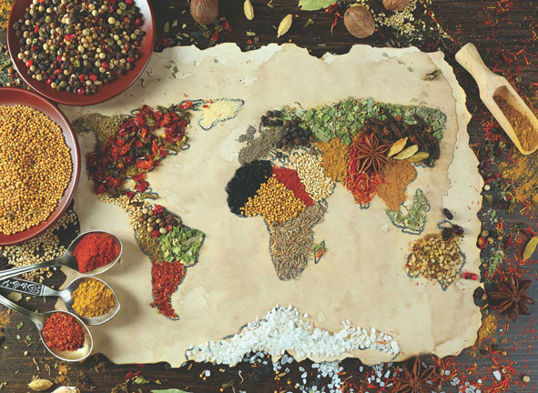 Herbal World Map Maps / Geography Jigsaw Puzzle