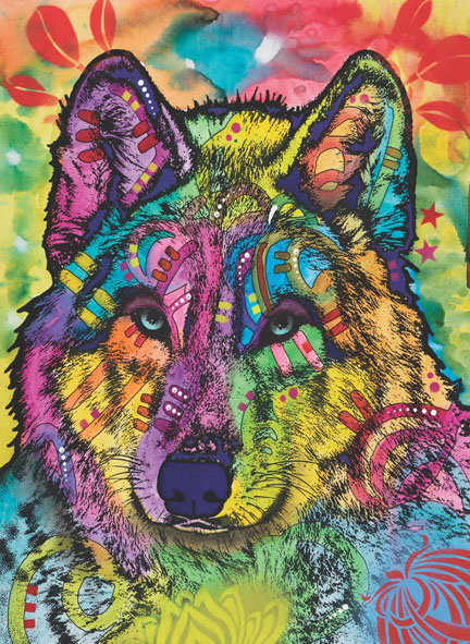 The Stare Of The Wolf Wolves Jigsaw Puzzle