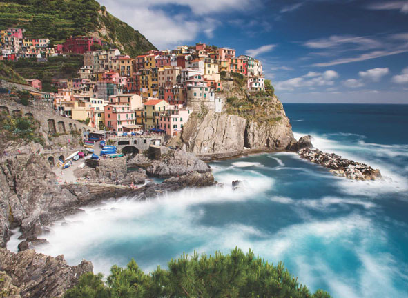 Afternoon in Manarola Italy Jigsaw Puzzle