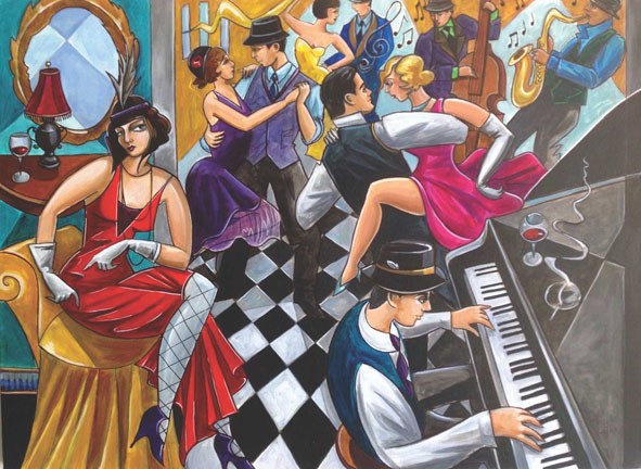 Speakeasy People Jigsaw Puzzle