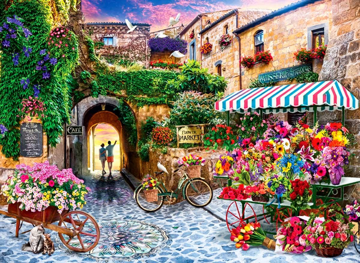 The Flower Market Flowers Jigsaw Puzzle