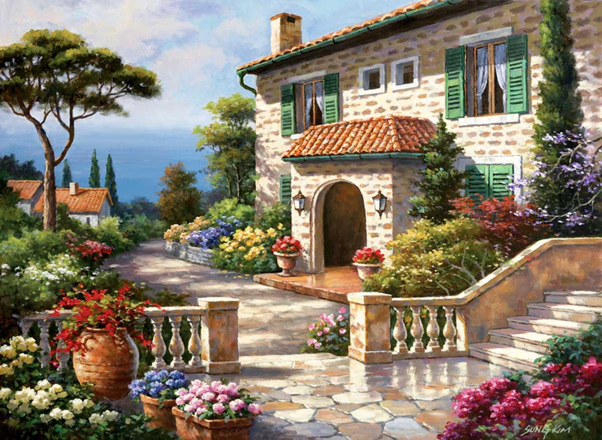 Villa Delle Fontana Landscape Jigsaw Puzzle