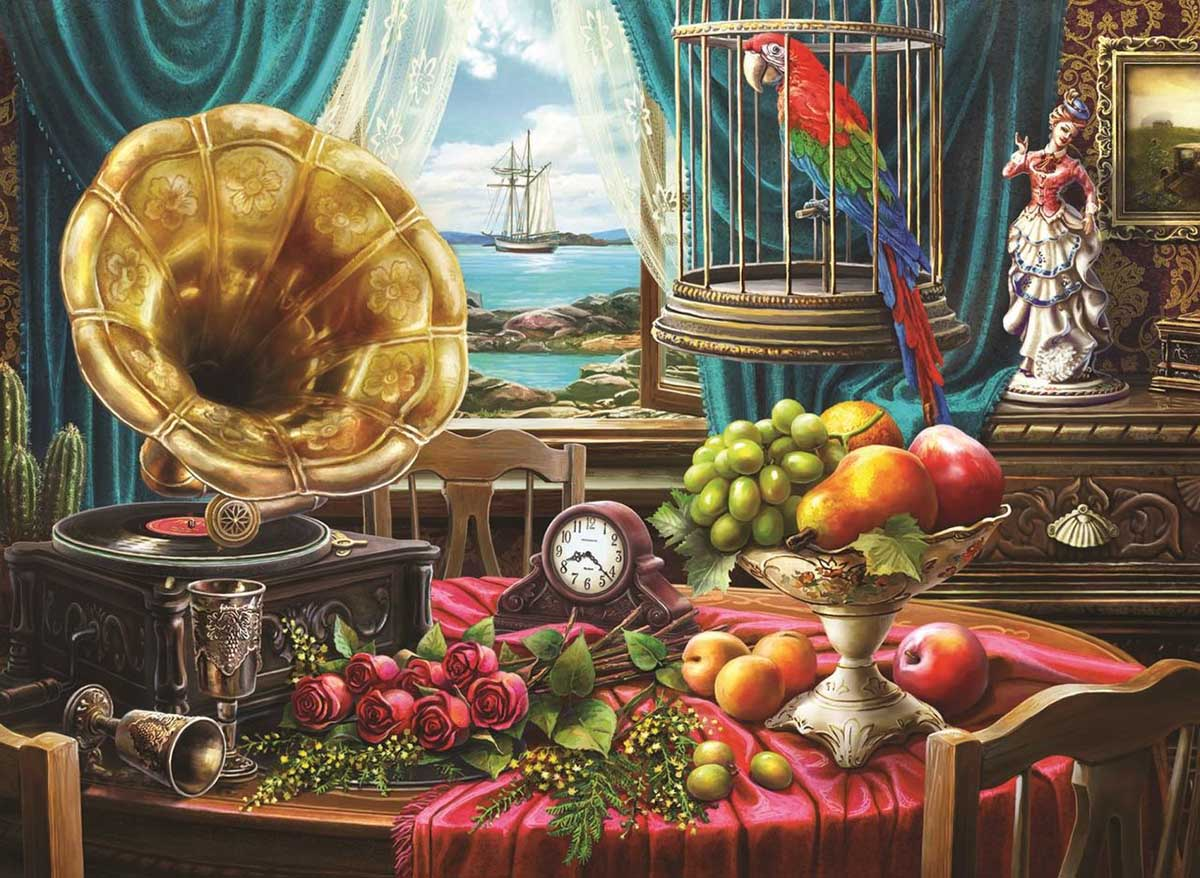 Still Life With Fruit Domestic Scene Jigsaw Puzzle