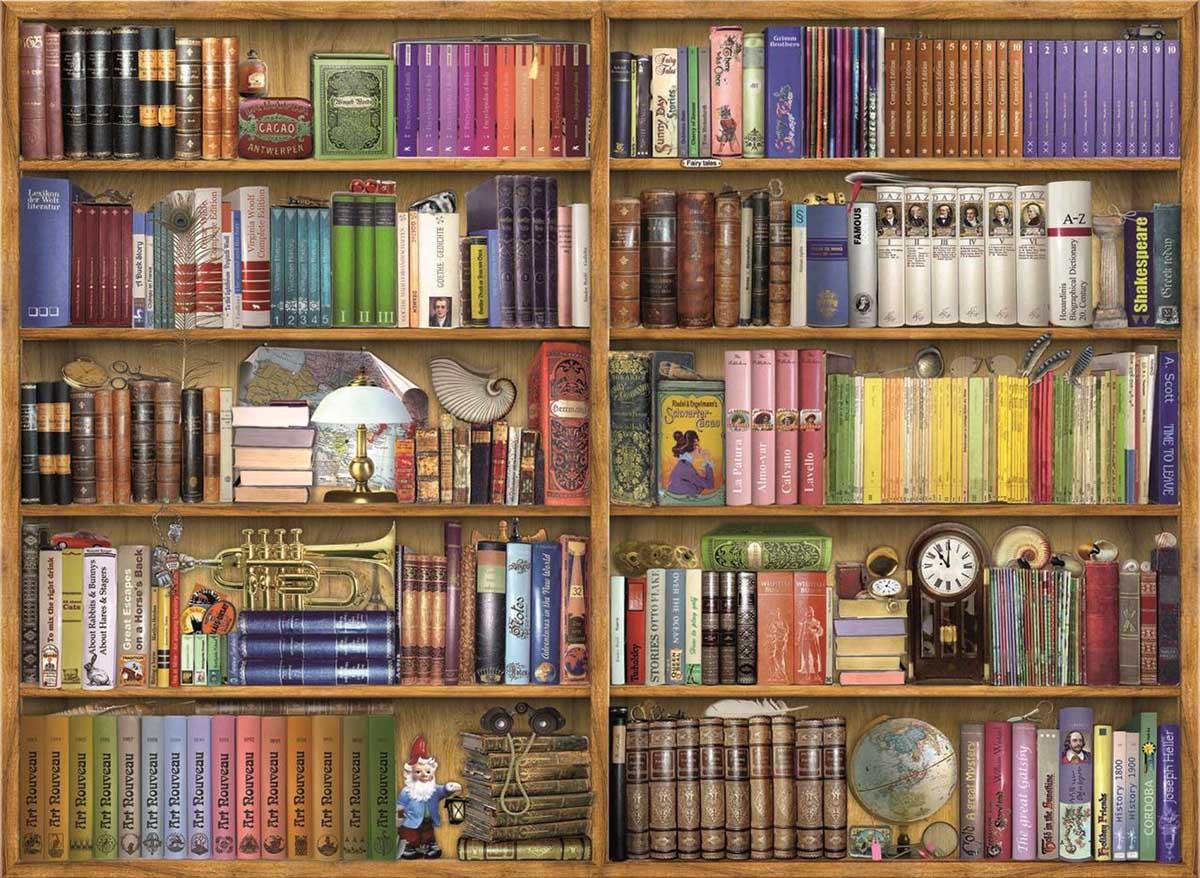 Bookshelves Everyday Objects Jigsaw Puzzle