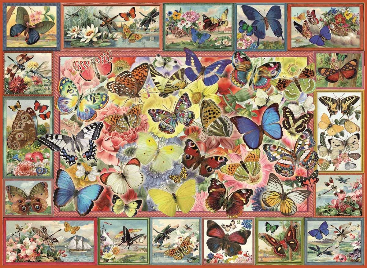 Lots Of Butterflies Butterflies and Insects Jigsaw Puzzle