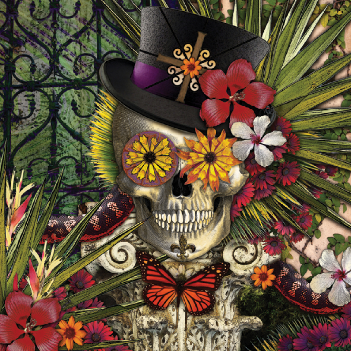 Baron in Bloom Gothic Jigsaw Puzzle