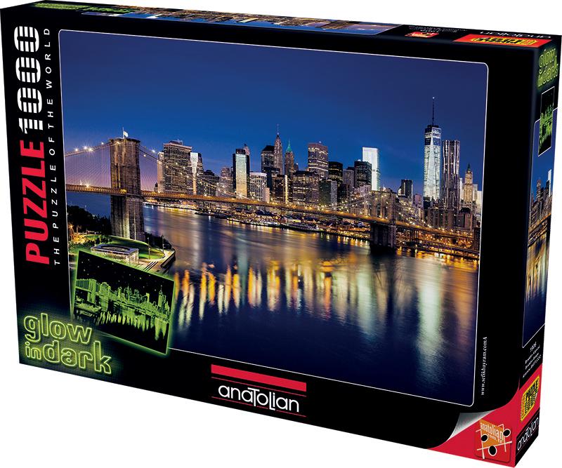 Brooklyn Bridge Landmarks / Monuments Glow in the Dark Puzzle
