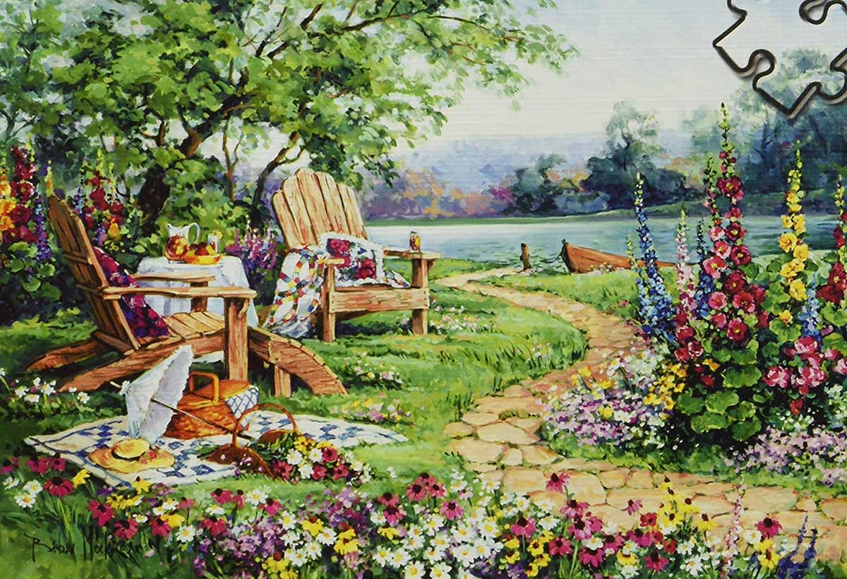 Lakeside Afternoon - Scratch and Dent Lakes / Rivers / Streams Jigsaw Puzzle