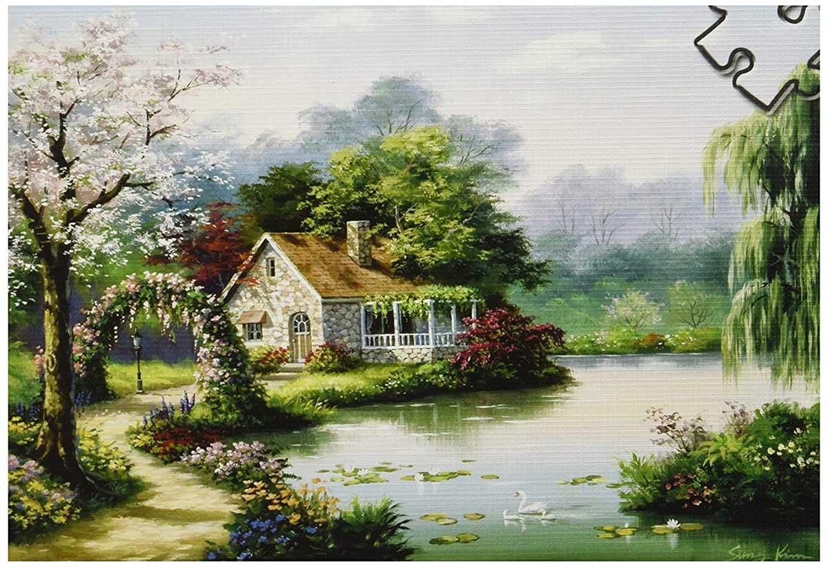 Arbor Cottage Cottage / Cabin Jigsaw Puzzle