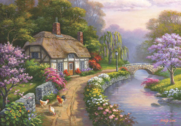 Willow Glen Estate Cottage / Cabin Jigsaw Puzzle